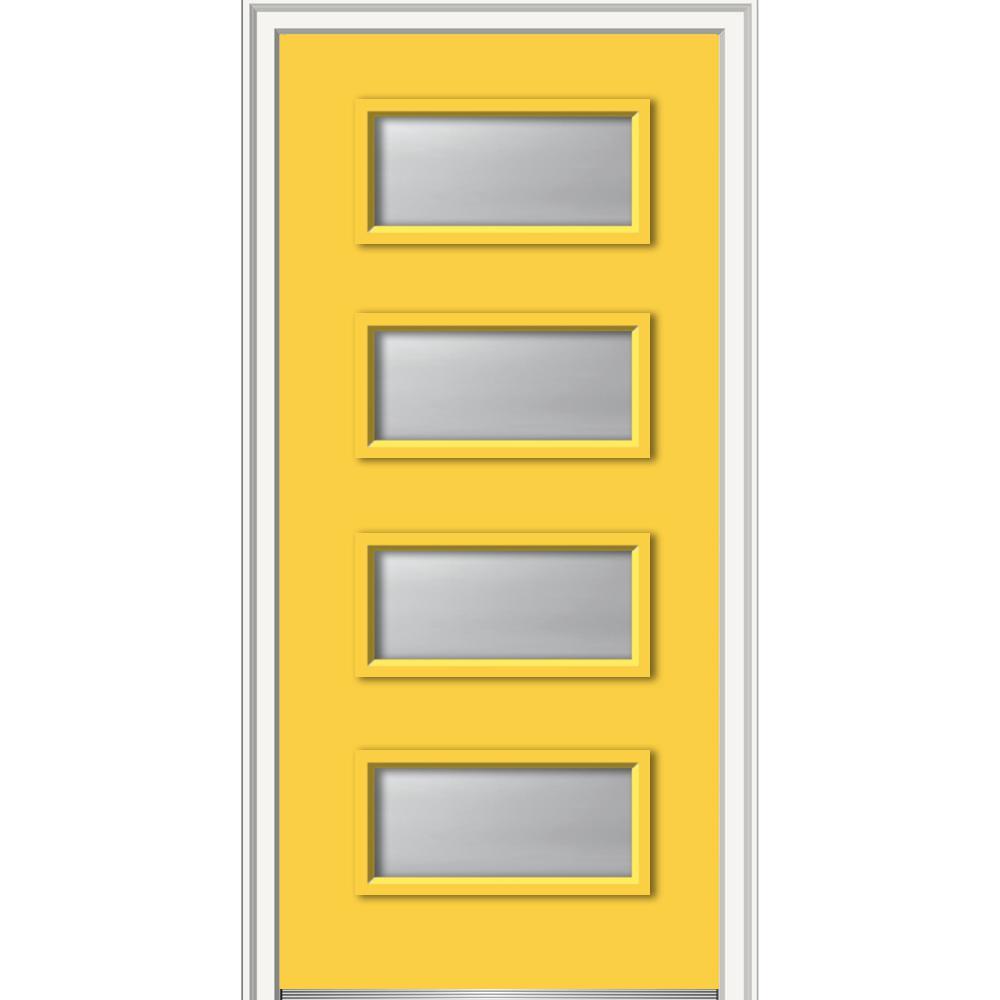 MMI Door 36 in. x 80 in. Celeste Left-Hand Inswing 4-  sc 1 st  Home Depot & MMI Door 36 in. x 80 in. Celeste Left-Hand Inswing 4-Lite Frosted ...