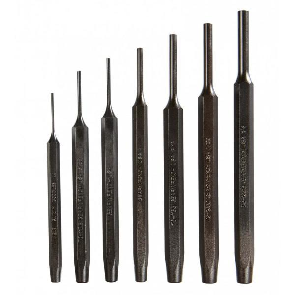 Steel Tool Pin Punch Set (7-Piece)