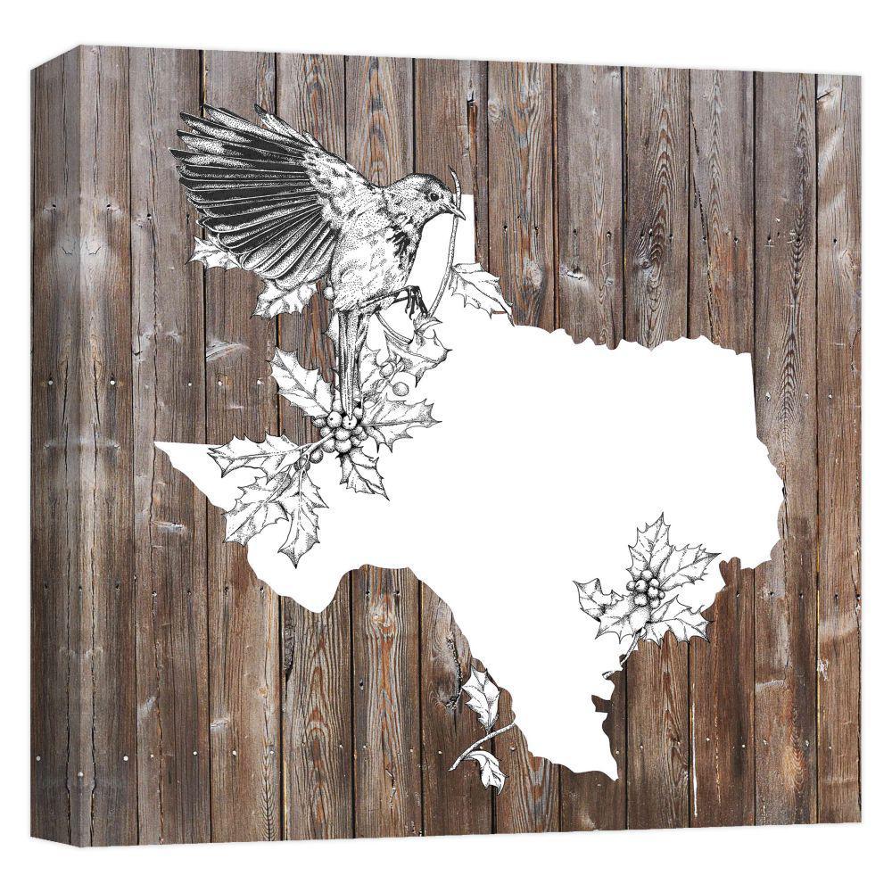 15.inx15.in ''Texas Christmas'' Printed Canvas Wall Art