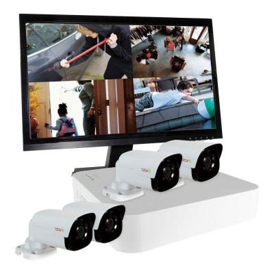 Ultra 4-Channel HD 1TB Surveillance NVR with (4) 4 Megapixel Bullet Cameras
