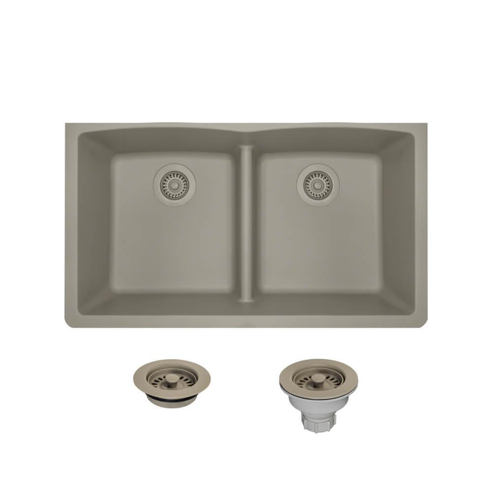 ... Deep Double Kitchen Sink Composite Granite On Swanstone Ascend Sink,  Clean Granite Composite Sink, ...