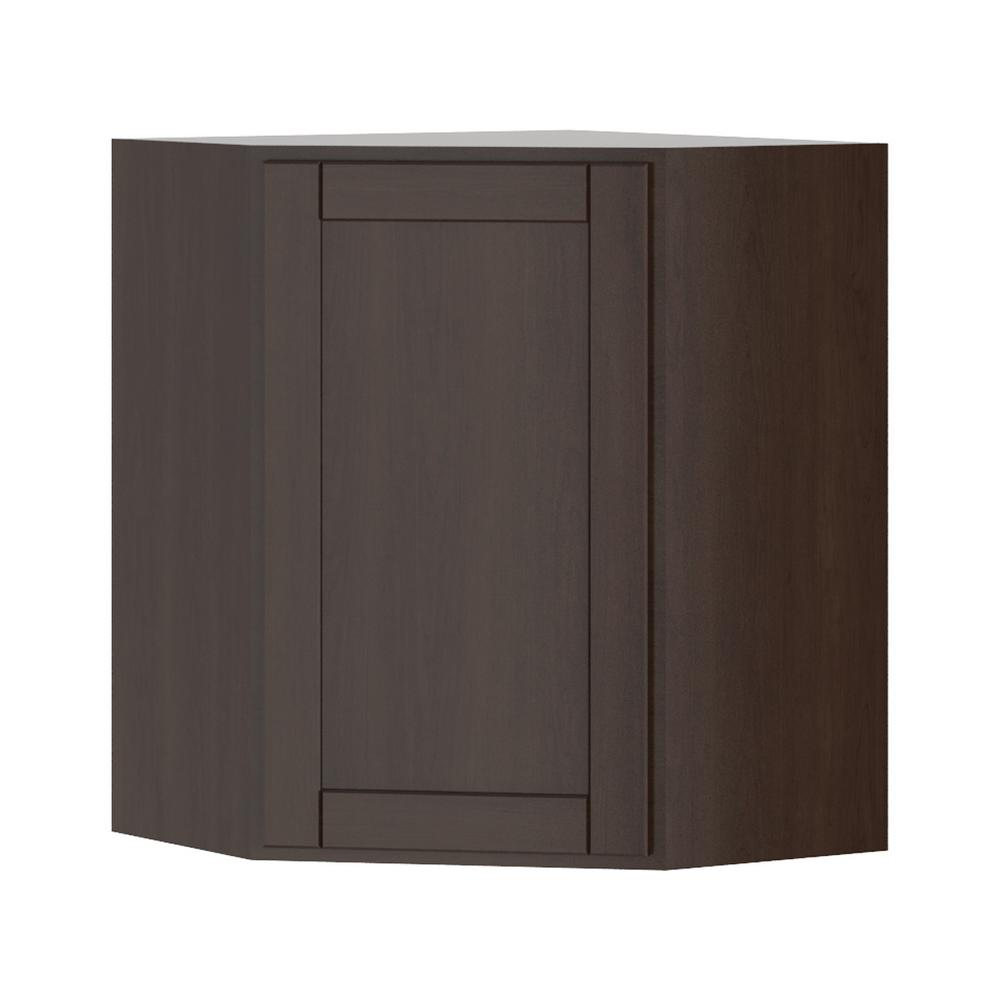 Hampton Bay Princeton Shaker Assembled 24x30x24 In Corner Wall