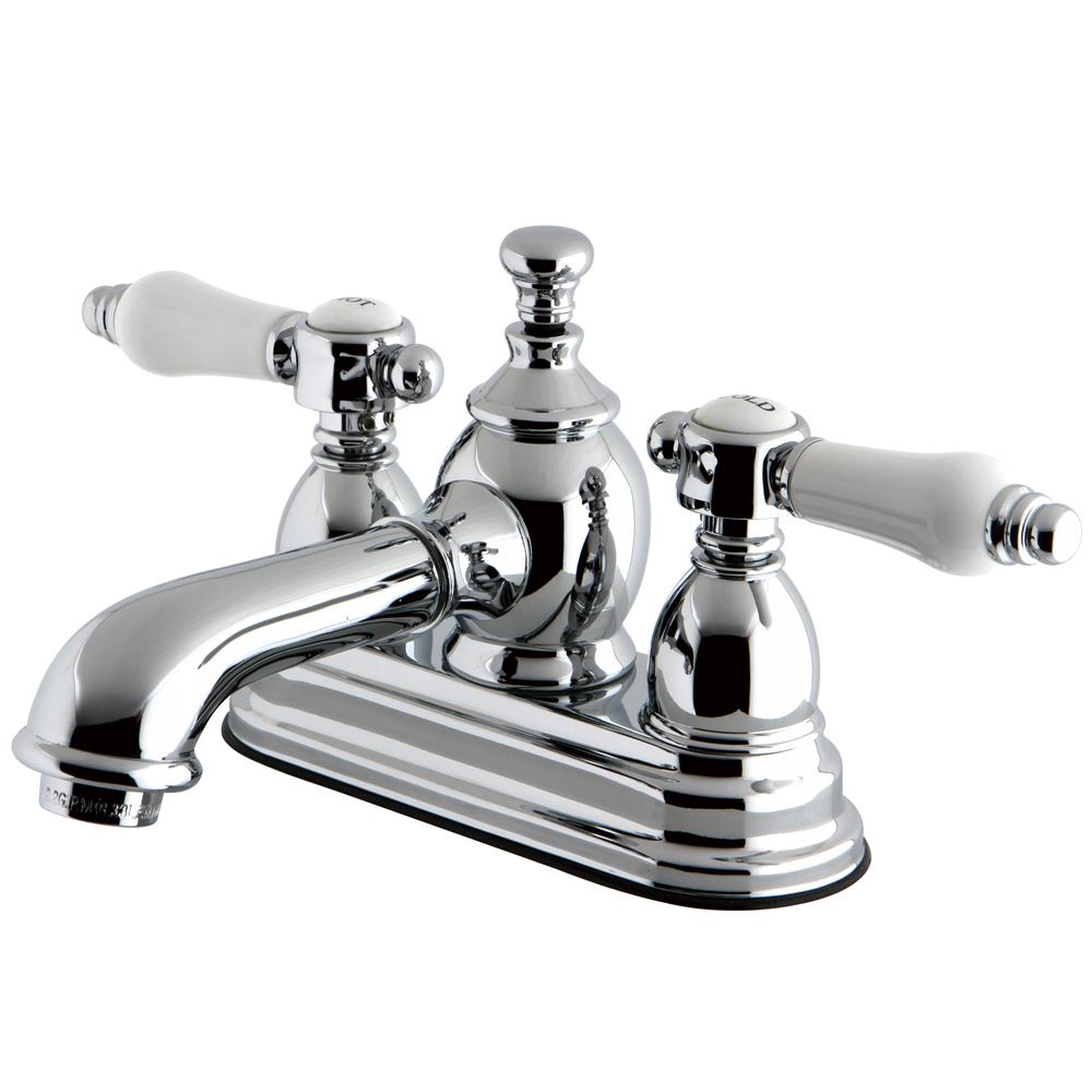 Kingston Brass Vintage Porcelain 4 in. Centerset 2-Handle Mid-Arc ...