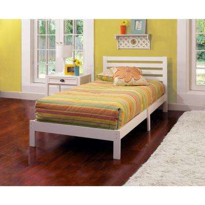 Aiden White Twin Platform Bed