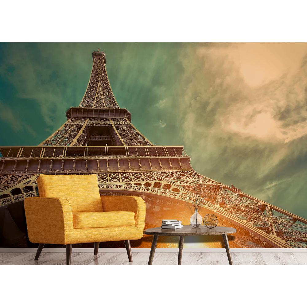 Wall Rogues Eiffel Tower Wall Mural FDM50576 The Home Depot