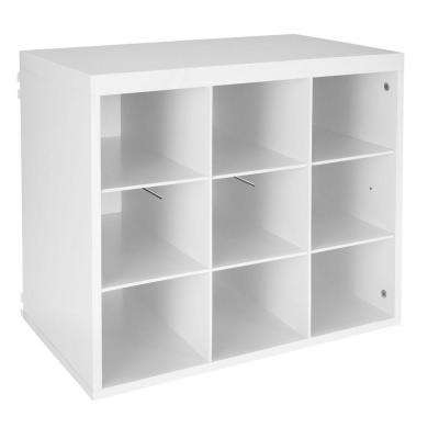 Elite 19-3/4 in. White 9-Slot Organizer