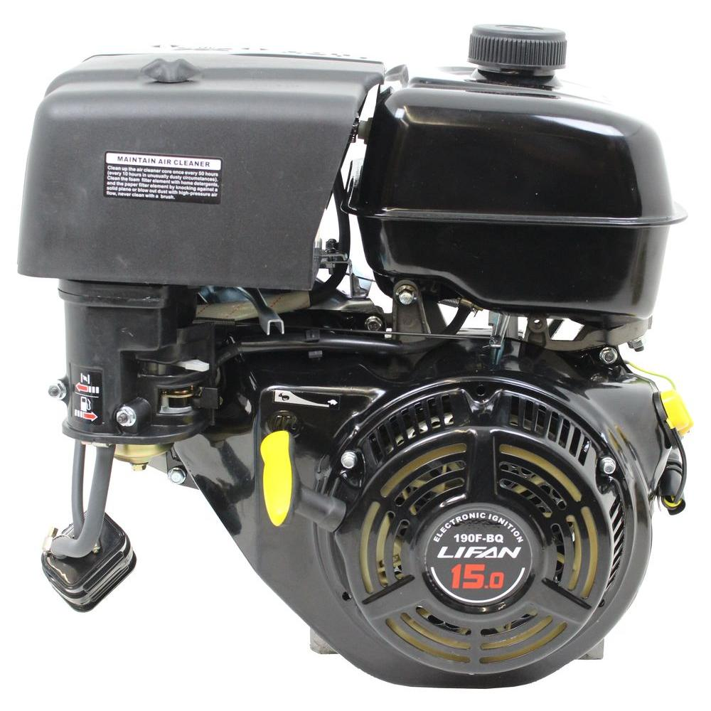 LIFAN 1 in  15 HP 420cc OHV Recoil Start Horizontal Shaft Gas Engine