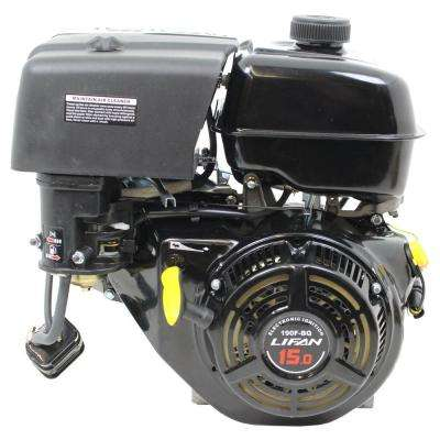 1 in  15 HP 420cc OHV Recoil Start Horizontal Shaft Gas Engine