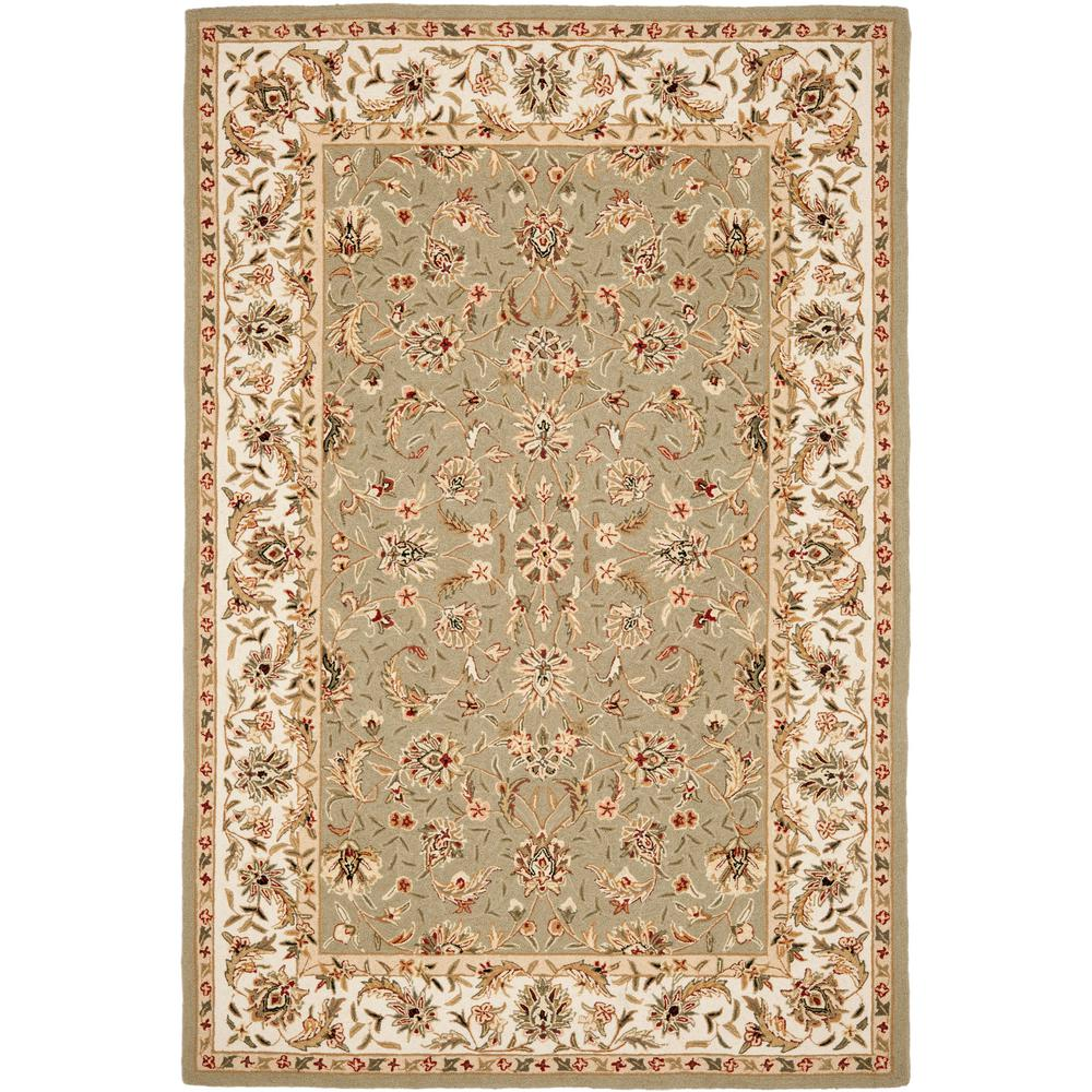 8x10 Sage Area Rug: Safavieh Chelsea Sage/Ivory 5 Ft. 3 In. X 8 Ft. 3 In. Area