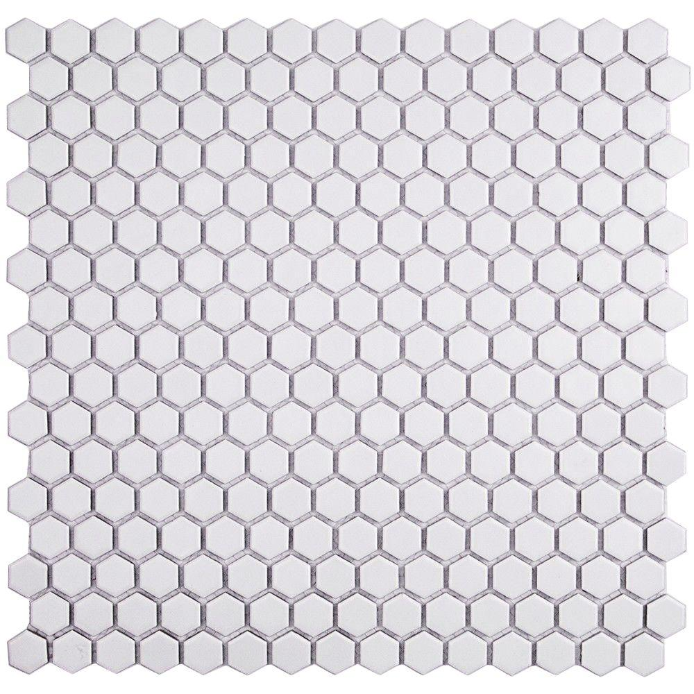 Splashback tile bliss hexagon white matte ceramic mosaic floor and splashback tile bliss hexagon white matte ceramic mosaic floor and wall tile 3 in dailygadgetfo Image collections