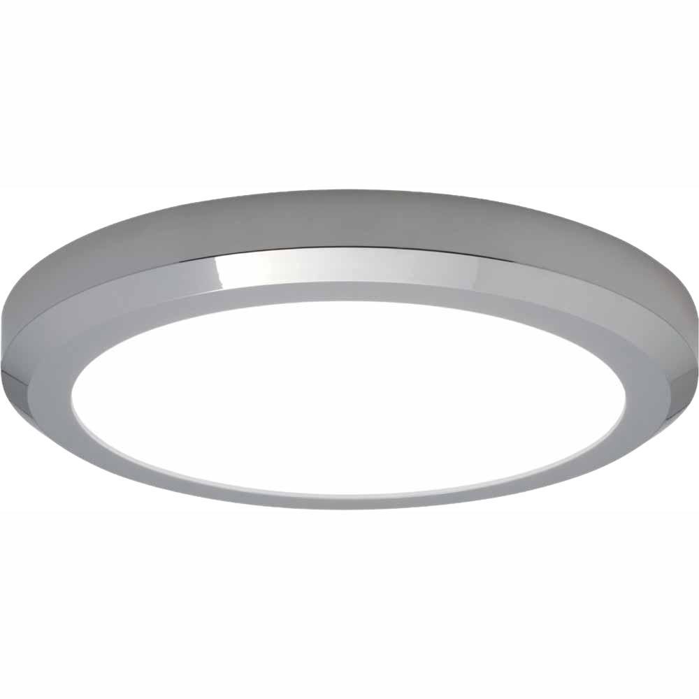 Edge Lit 32-Watt Chrome Integrated LED Ceiling Flush Mount