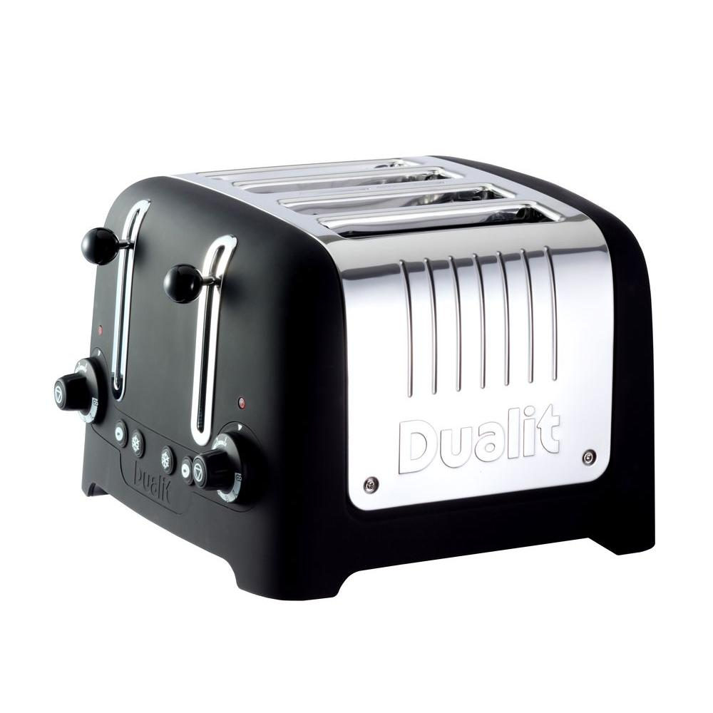 Dualit Lite Traditional Desing Chunky 4-Slice Toaster in Black