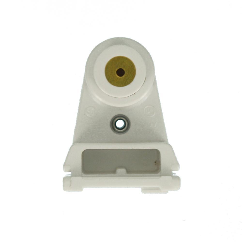 Leviton 660 Watt White Slimline Base Single Pin Pedestal Slide On Lock On Plunger Standard Fluorescent Lampholder 2536 The Home Depot