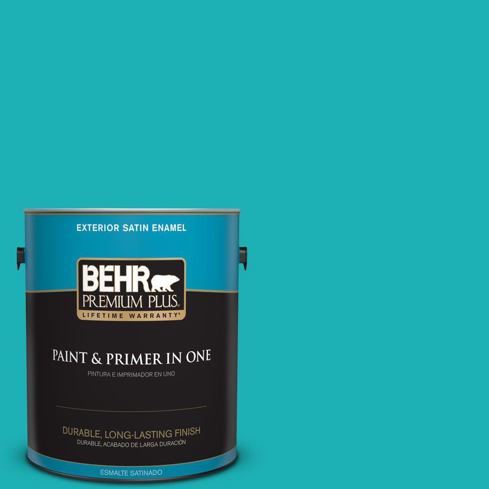 1 gal. #HDC-SP16-06 Larkspur Blue Satin Enamel Exterior Paint