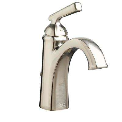 Edgemere Single Hole Single-Handle Bathroom Faucet with Metal Speed Connect Drain in Brushed Nickel