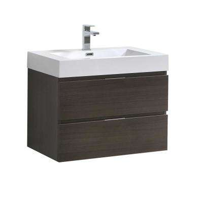 pleasing wall hung vanities for small bathrooms. Valencia 30 in  W Wall Hung Bathroom Vanity 29 31 Gray Vanities Bath The Home Depot