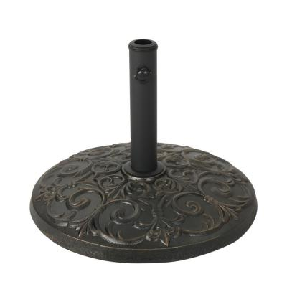 Ruth 56.53 lbs. Concrete Patio Umbrella Base in Hammered Dark Copper