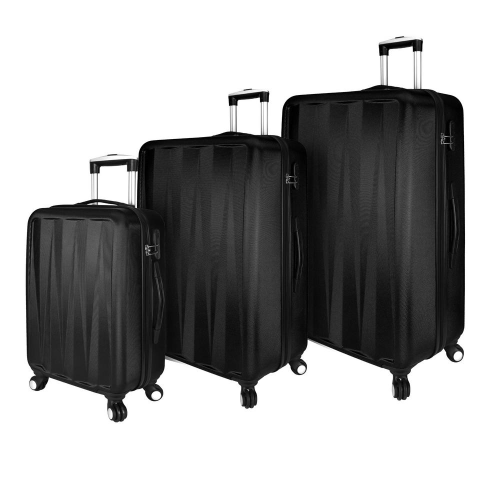 Elite Verdugo Hardside 3-Piece Black Spinner Luggage Set