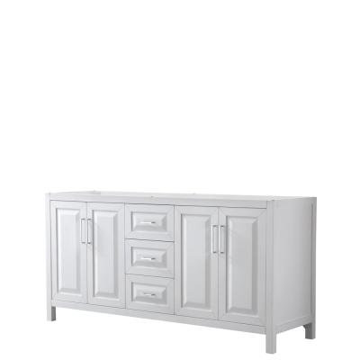 Daria 71 in. Double Bathroom Vanity Cabinet Only in White