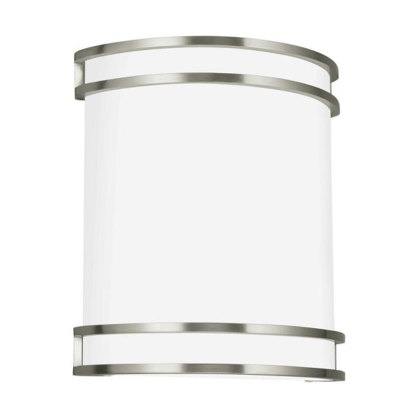 ADA Wall Sconces 14-Watt Brushed Nickel Integrated LED Sconce