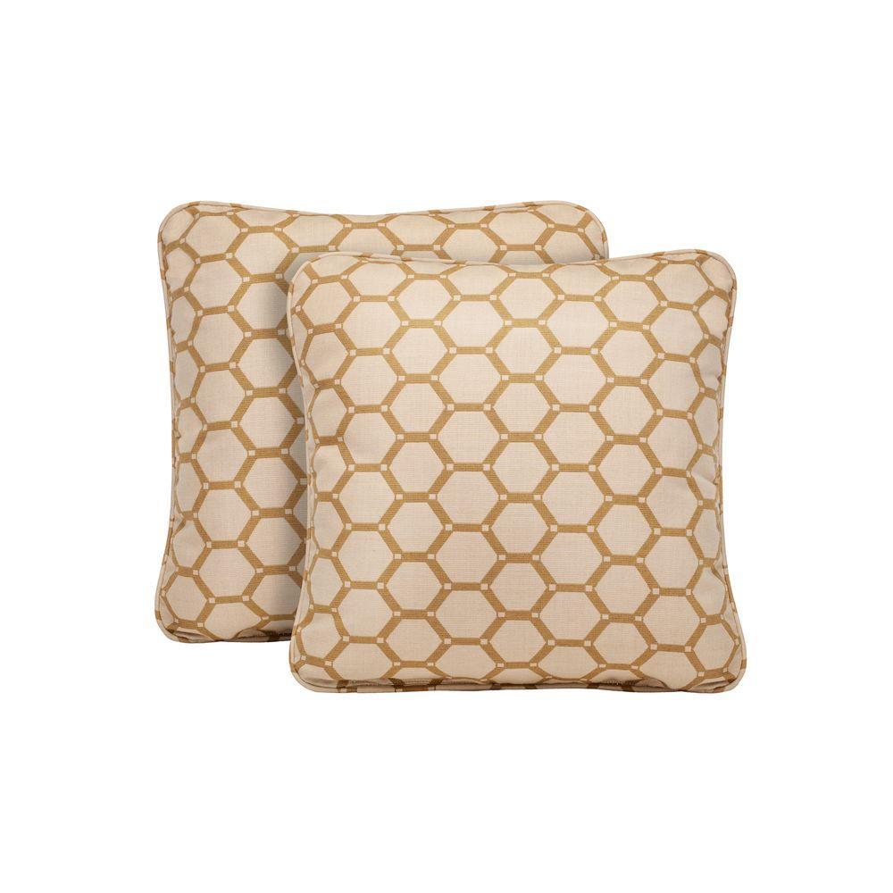 Highland Tessa Barley Outdoor Throw Pillow (2-Pack)