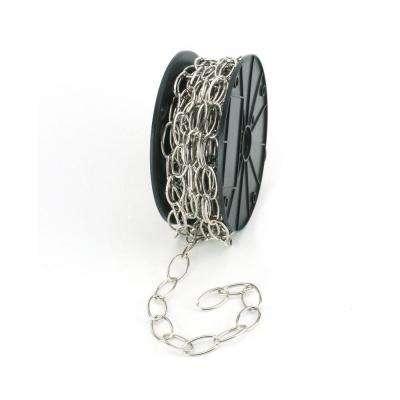 #2/0 x 50 ft. Brushed Nickel Decorator Steel Plated Chain