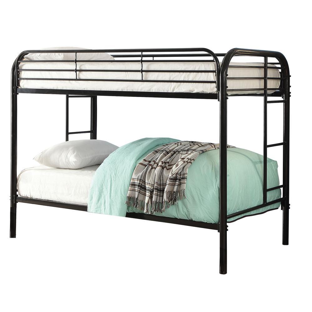 Black Opal Metal Twin over Twin Bunk Bed