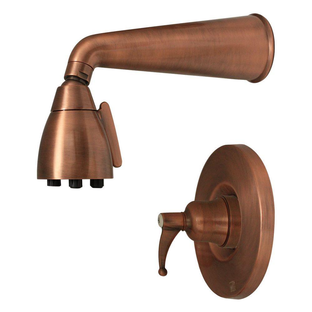 Whitehaus Collection Blairhaus Adams 1-Handle Shower Faucet in Antique Copper