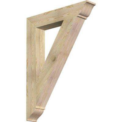 6 in. x 48 in. x 36 in. Douglas Fir Traditional Rough Sawn Bracket