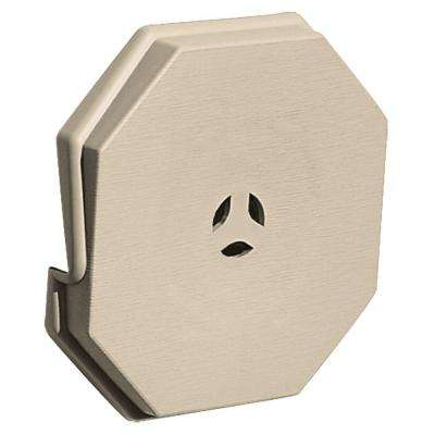 6.625 in. x 6.625 in. #049 Almond Surface Mounting Block