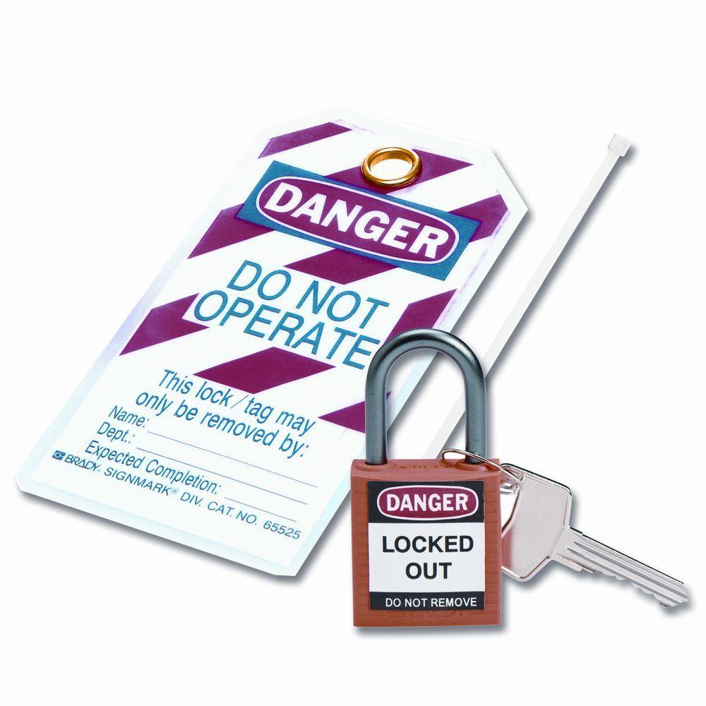 Compact Safety Padlock Kit - Orange