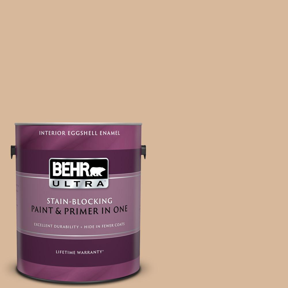 Behr Ultra 1 Gal S260 3 Dusty Gold Eggshell Enamel Interior Paint And Primer In One 275401 The Home Depot