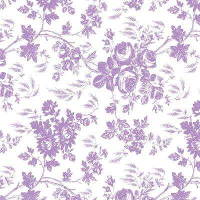 Creative Covering 18 in. x 20 ft. Toile Lavender Self-Adhesive Vinyl Drawer and Shelf Liner (6-Rolls)