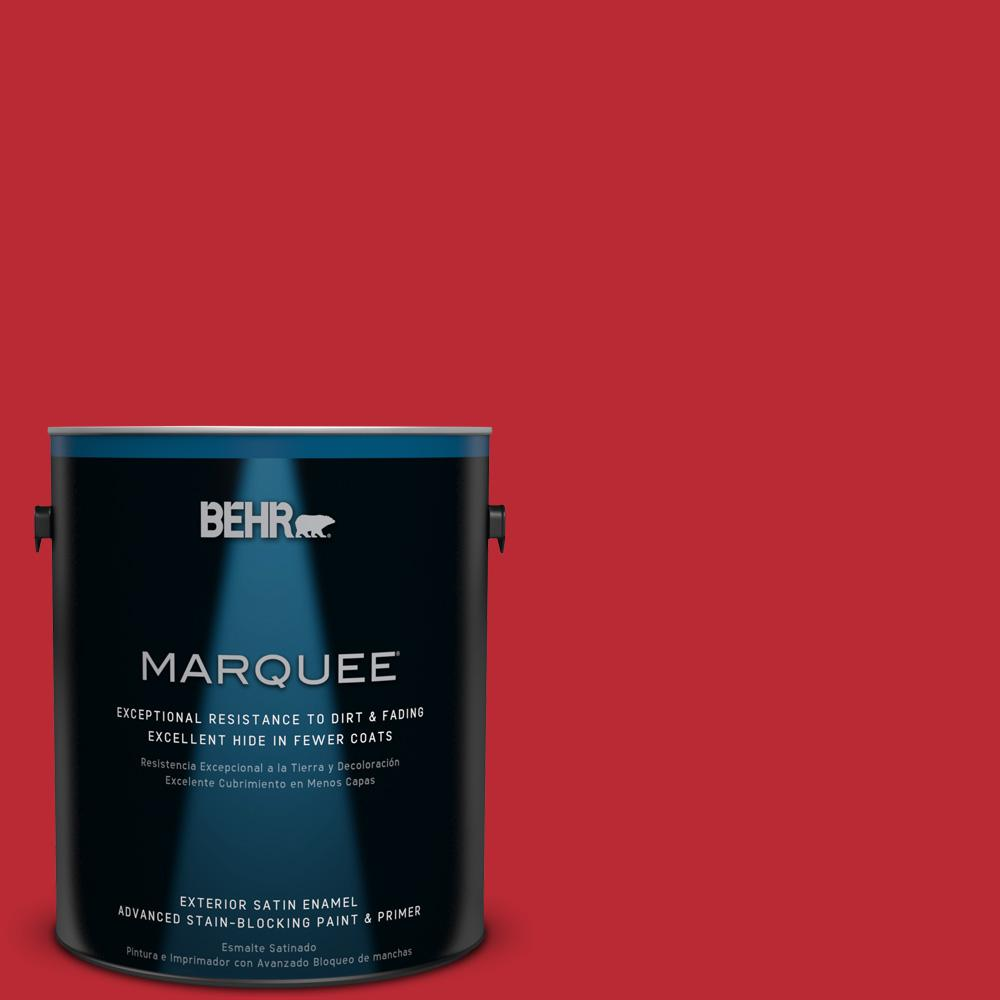 BEHR MARQUEE 1-gal. #UL110-7 Edgy Red Satin Enamel Exterior Paint