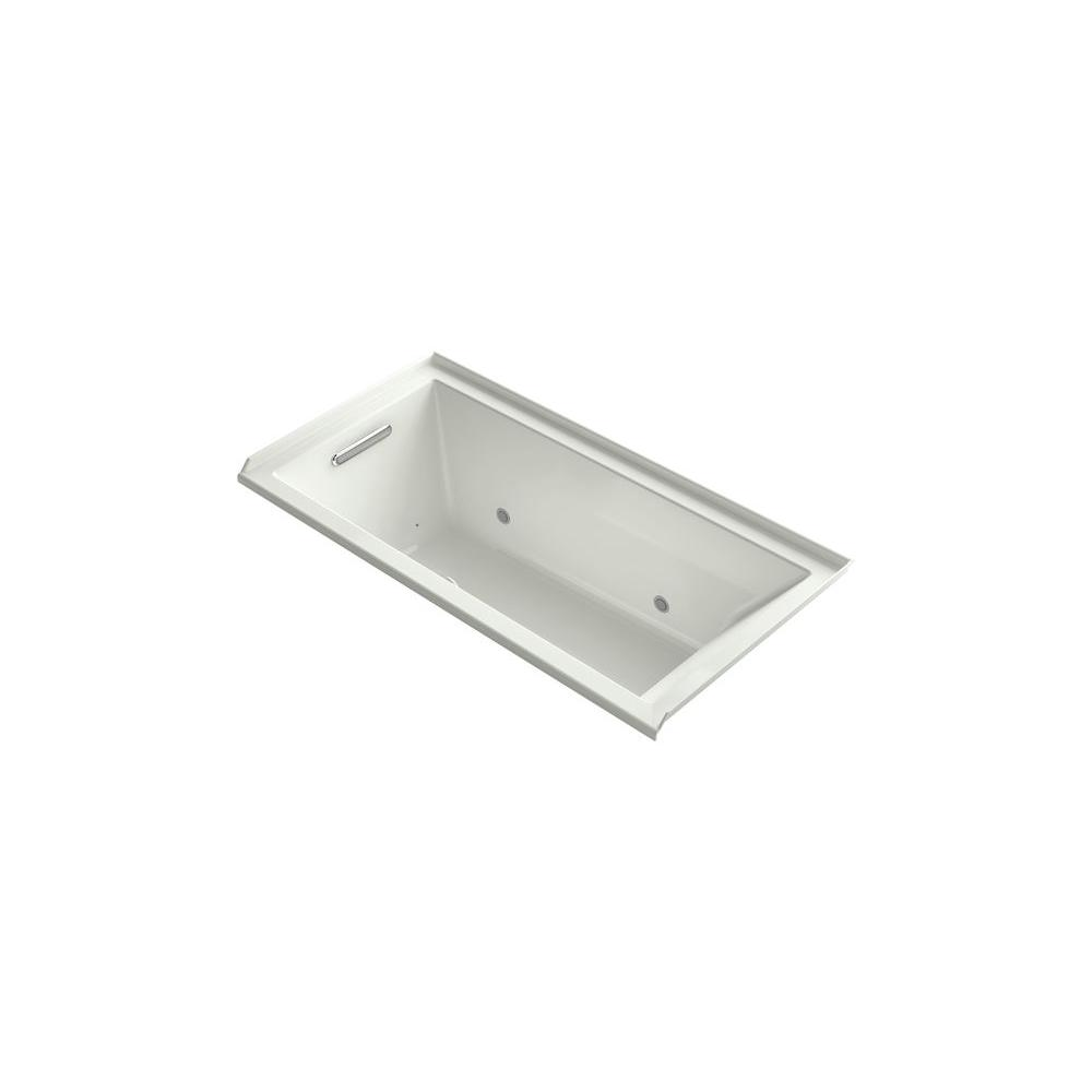KOHLER Underscore 5 ft. Left Drain Bathtub in Dune