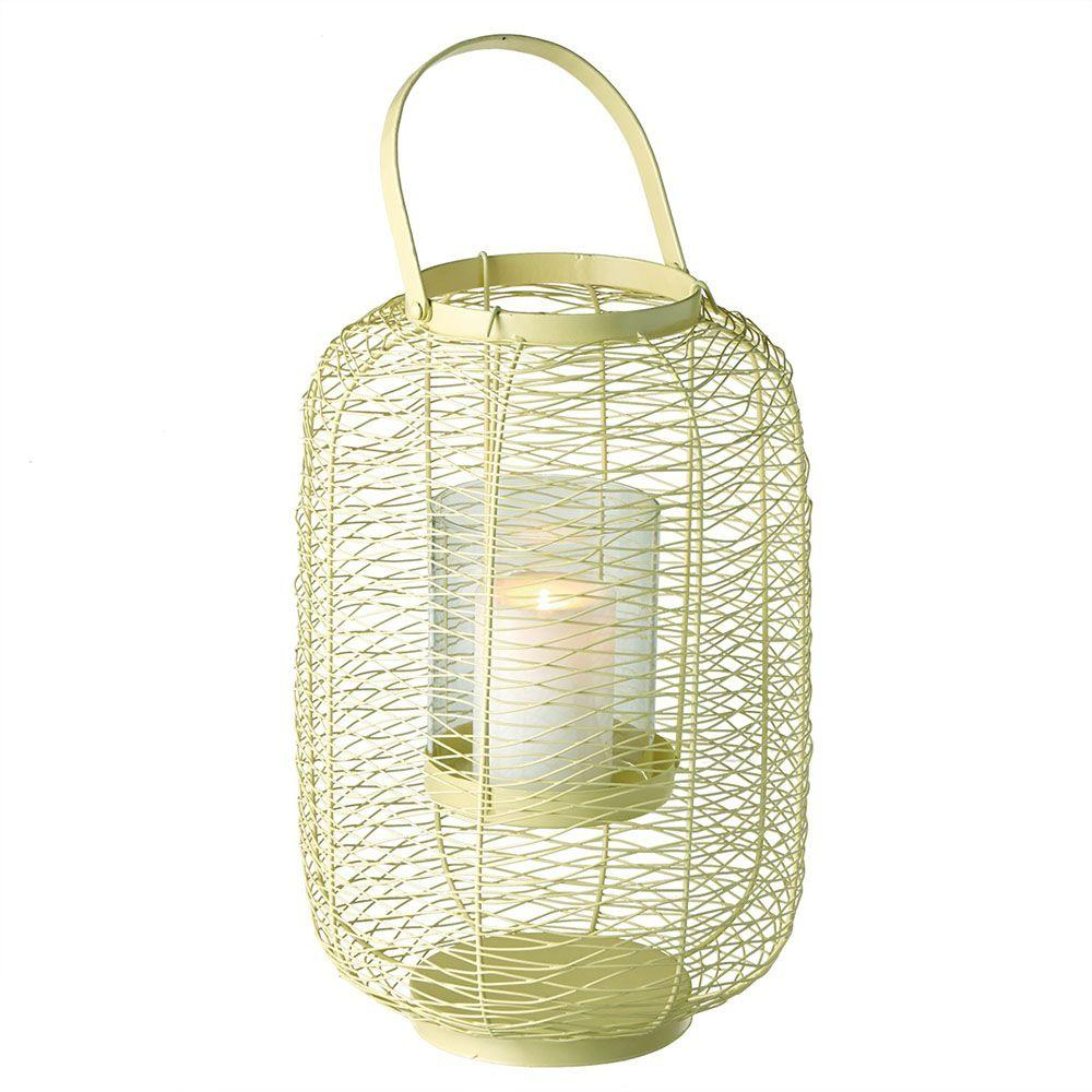 Filament Design Sundry 15.5 in. Yellow Pillar Lantern-DISCONTINUED