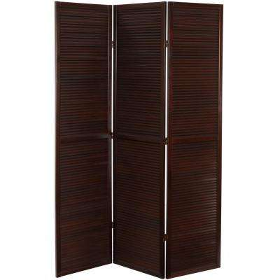 Brown 3 Panel Venetian Room Divider