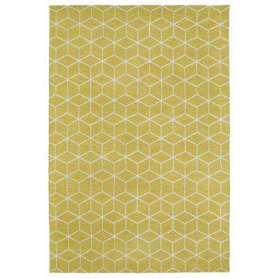 Cozy Toes Yellow 5 ft. x 7 ft. Area Rug