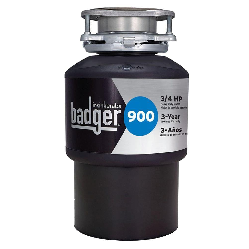 InSinkErator Badger 900 3/4 HP Continuous Feed Garbage Disposal