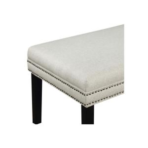 white bedroom bench.  2 null Linen White Upholstered Bed Bench with Nail Head Trim DS D029002