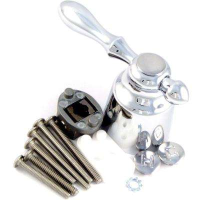 Tub and Shower Lever Handle Universal Fit in Chrome Finish