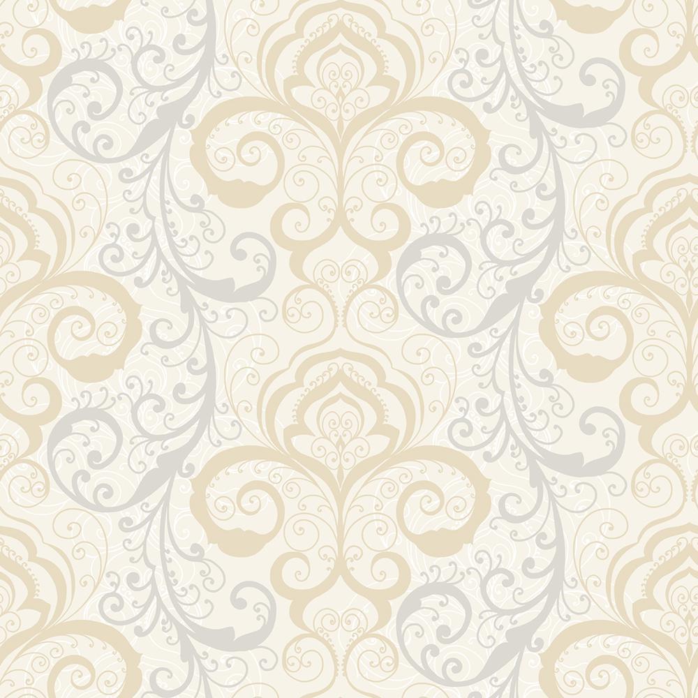 Henna Wallpaper: Chesapeake Vanessa Mauve Henna Brocade Wallpaper Sample