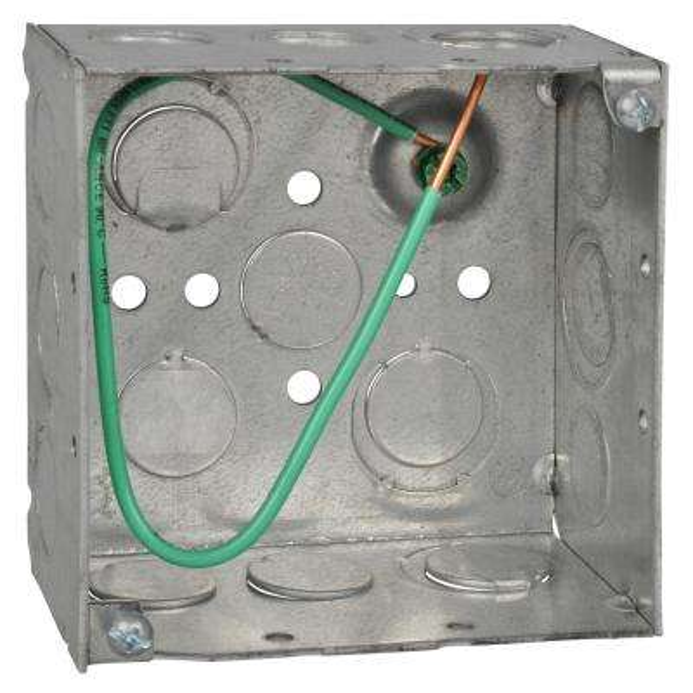 4 in. 30.3 cu. in. Metallic Square Box (Case of 25)
