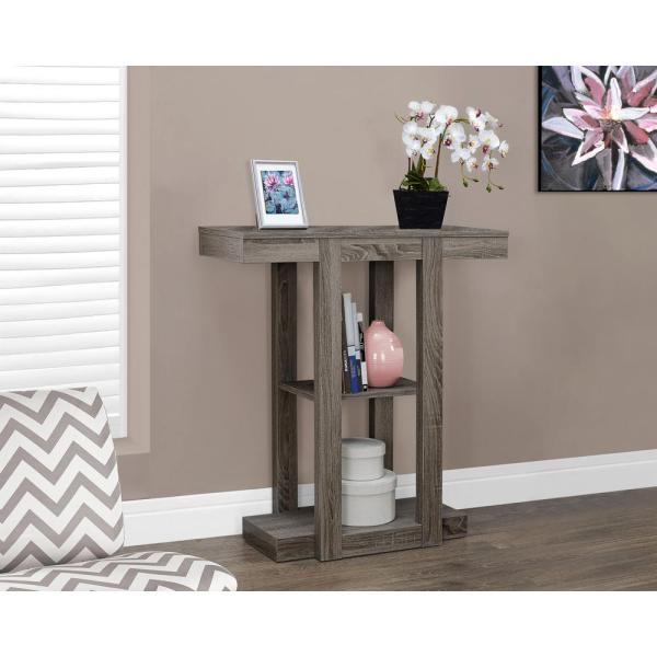 Monarch Specialties Dark Taupe Console Table I 2456