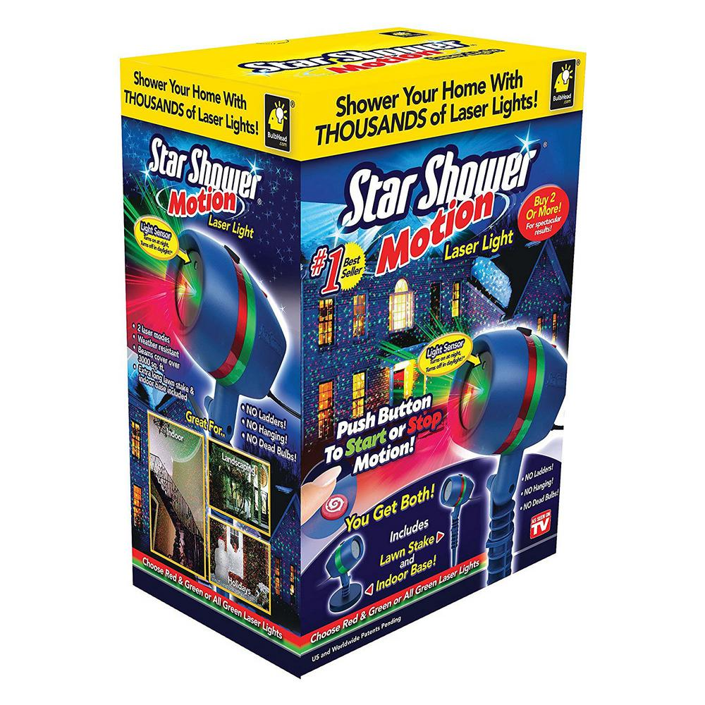 Star Shower Motion Laser Light Projector-10639-6 - The Home Depot