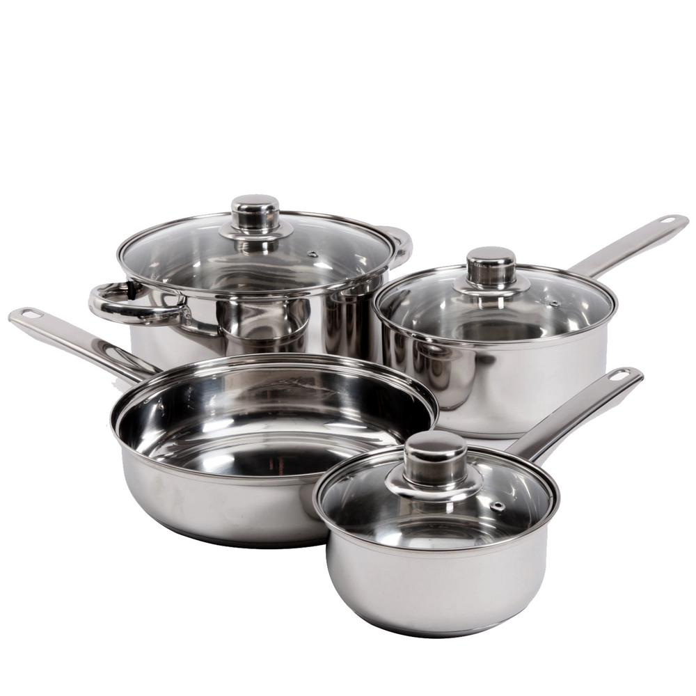 Landon 7-Piece Stainless Steel Cookware Set
