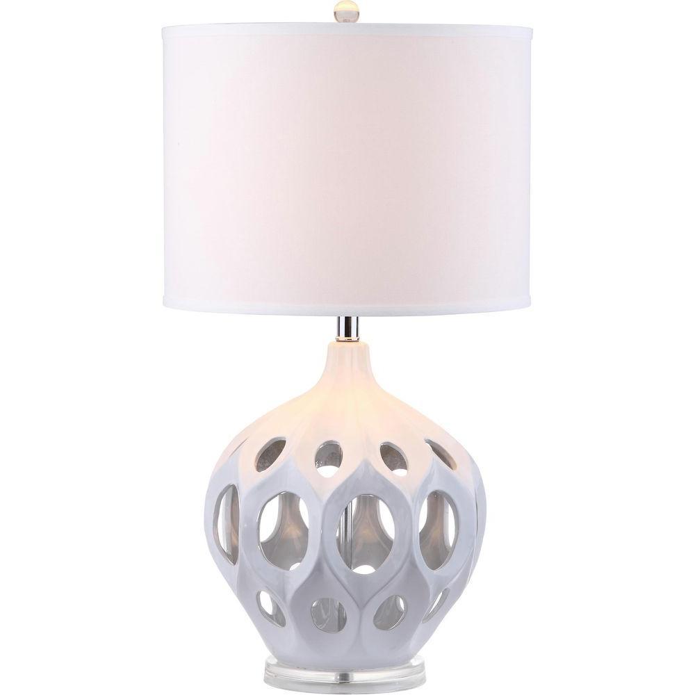 Safavieh Regina 29 in. White Ceramic Table Lamp