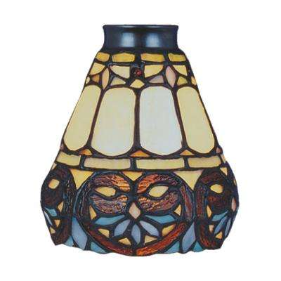 Mix-N-Match 1-Light Multicolor Flowered Tiffany Glass Shade