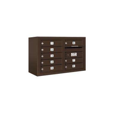 3800 Horizontal Series 8-Compartment Surface Mount Mailbox