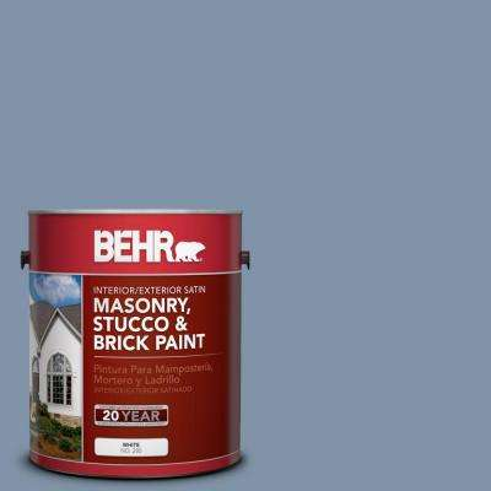 1-gal. #MS-76 Misty Falls Satin Interior/Exterior Masonry, Stucco and Brick Paint